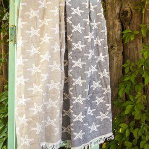 Пляжное полотенце Barine Starfish Beige 100×180