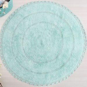 Круглый коврик в ванную Irya GENNY МЕНТОЛОВЫЙ 80 см. диаметр