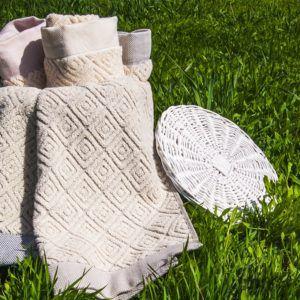 Банное полотенце Buldans Knidos Natural 90×150