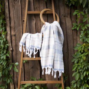 Пляжное полотенце Barine Lino Indigo 95×160