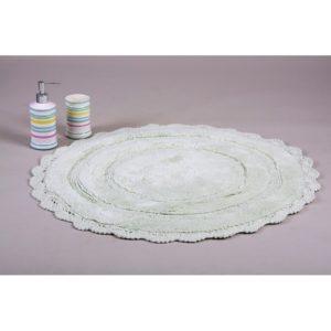 Круглый коврик в ванную Irya ANNA MINT 80 см. диаметр