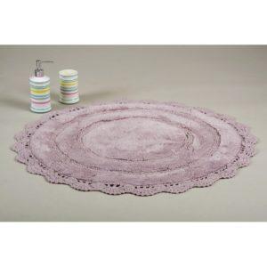 Круглый коврик в ванную Irya ANNA MOR 80 см. диаметр