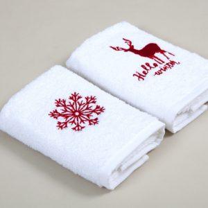 Набор кухонных полотенец Barine Winter Red 30×50