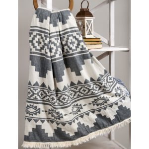 Плед Микроплюш Barine RUG THROW BLACK (4488)
