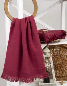 Банное полотенце Buldans Siena Sour Cherry 90x150 Турция (8681653013818)