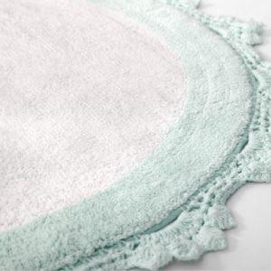 Круглый коврик в ванную Irya DOREEN MINT-BYAZ 90 см. диаметр