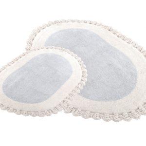 Набор ковриков для ванной Irya DESPINA GRI 60×90, 40×60