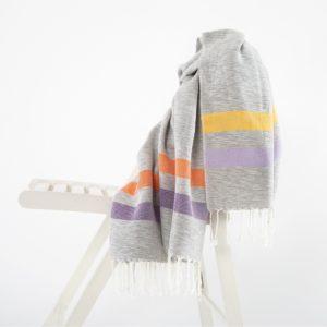 Пляжное полотенце Irya GIRIT TURUNCU-LILA 90×170