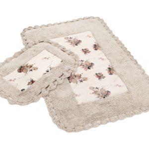 Набор ковриков для ванной Irya ESSA HEART NATURAL 70×110, 40×60