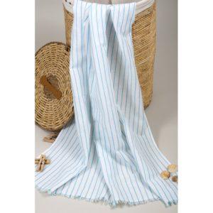 Пляжное полотенце Barine Pastemal Lineaturquoise 90×170