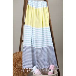 Пляжное полотенце Barine Pastemal Stripy Indigo-Mint-Green 95×175