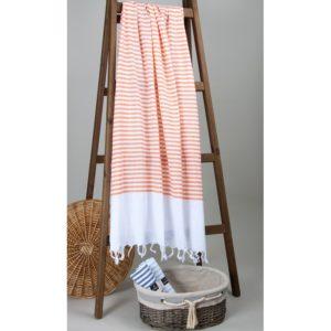 Пляжное полотенце Barine Pastemal White Imbat Orange 90×170