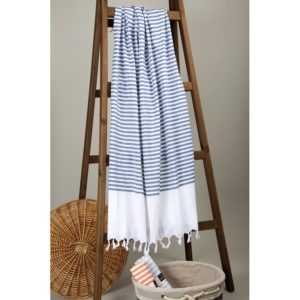 Пляжное полотенце Barine Pastemal White Imbat Indigo 90×170