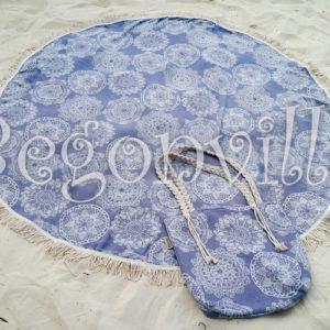 Круглое пляжное полотенце Begonville Lace 3 150 см. диаметр
