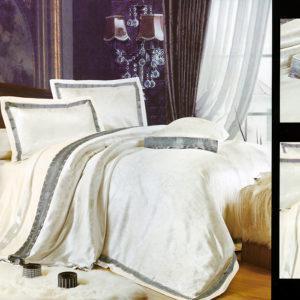 Шелковый жаккард с шелковой вышивкой La Scala 3D-75см