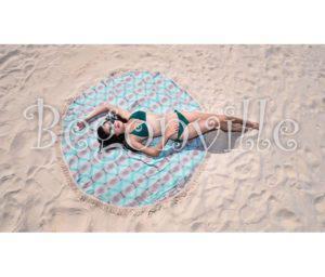 Круглое пляжное полотенце Begonville Ripple 2 150 см. диаметр (3644) Турция 70% хлопок