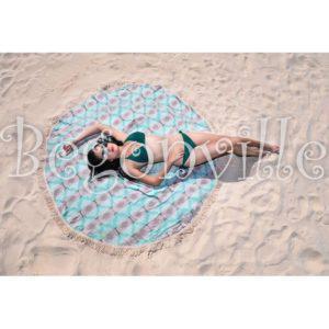 Круглое пляжное полотенце Begonville Ripple 2 150 см. диаметр
