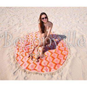 Круглое пляжное полотенце Begonville Ripple 3 150 см. диаметр