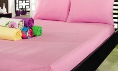 Простынь на резинке Varol Cotton Castltle Розовая 180×200