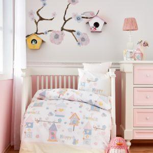 Постельное белье для младенцев Karaca Home Happy 100x150 Ранфорс (8680214161623) Турция