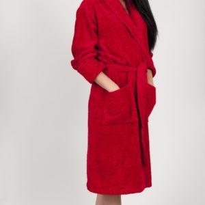 Махровый халат TAC Maison 3d Красный