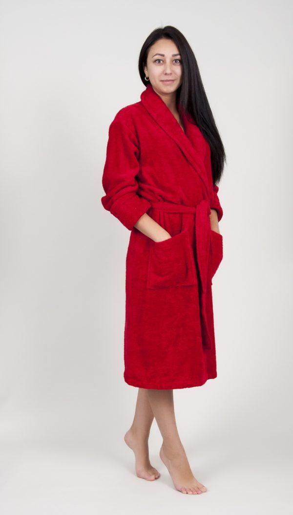 Махровый халат TAC Maison 3d КрасныйХлопок
