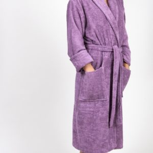 Махровый халат TAC Maison 3d Orkide Lila S/M