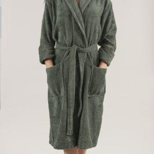 Махровый халат TAC Maison 3d Koyu Yesil S/M