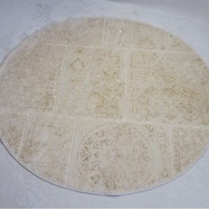 Круглый коврик Arya 120 см Eskitme Бежевый (TR1004842)
