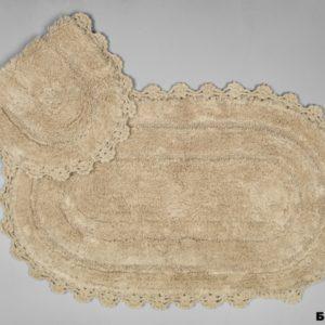 Набор ковриков Arya 60x100 с гипюром Afro Бежевый Бежевый (TR1004386-3)