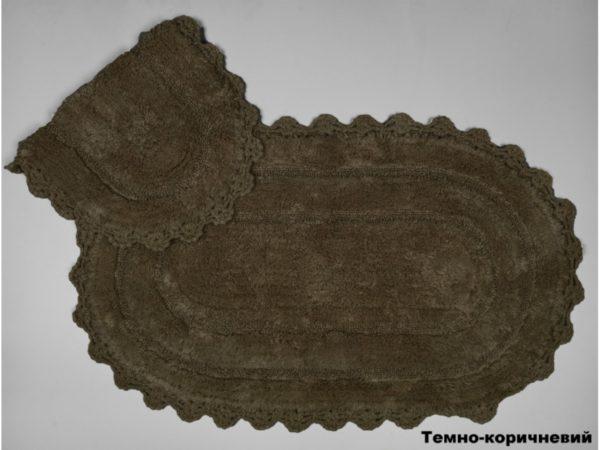 Набор ковриков Arya 60x100 с гипюром Afro Коричневый Коричневый (TR1004386-1)