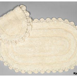 Набор ковриков Arya 60x100 с гипюром Afro Кремовый Кремовый (TR1004386)