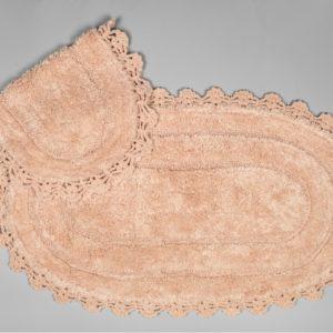 Набор ковриков Arya 60x100 с гипюром Afro Розовый Розовый (TR1004386-2)