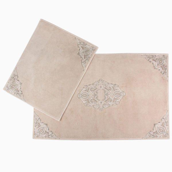 Набор ковриков Arya 60x100 с гипюром Marlow Бежевый Бежевый (TR1003687-1)