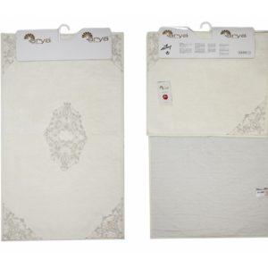Набор ковриков Arya 60×100 с гипюром Marlow Кремовый