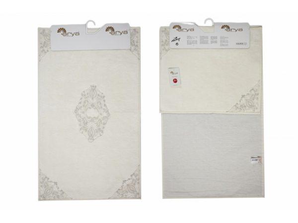 Набор ковриков Arya 60x100 с гипюром Marlow Кремовый Кремовый (TR1003687)