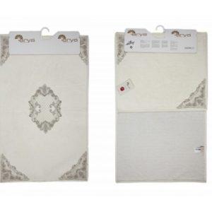 Набор ковриков Arya 60x100 с гипюром Valentin Кремовый (TR1003686)