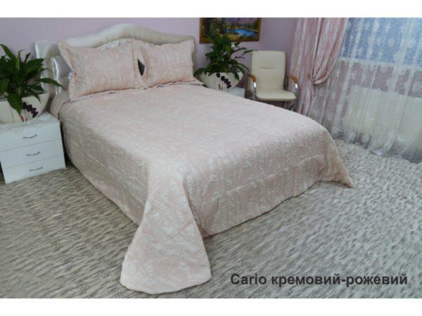 Покрывало Arya Cario кремовый,розовый Турция