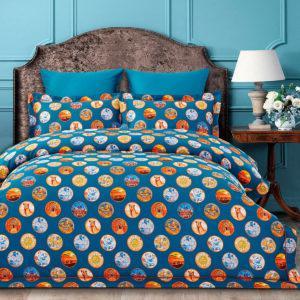 Постельное белье Arya Fashionable Sementa 200x220 Синий Оранжевый