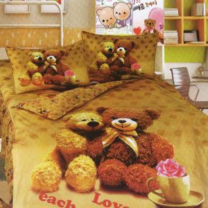 Детское постельное белье La Scala KI-69 Сатин 3D 160x205 Коричневый