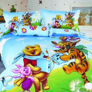 Детское постельное белье La Scala KI-47 Сатин 3D 160x205 Голубой