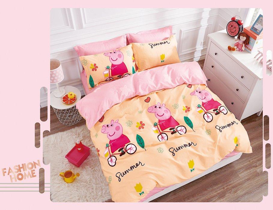 Постельное белье для детей La Scala K-24 Сатин 110x140 Розовый