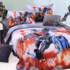 Детское постельное белье La Scala KI-56 Сатин 3D 160x205 Красный|Синий