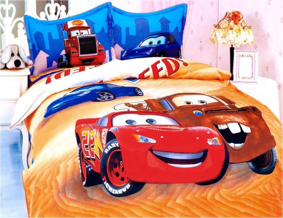 Детское постельное белье KI-06 3D 160x205 Оранжевый