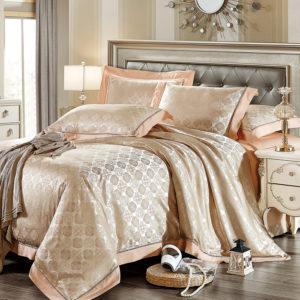 Шелковое постельное белье La Scala жаккард JP-17
