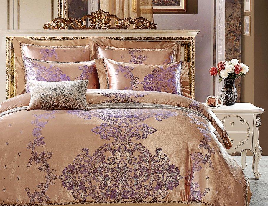 Шелковое постельное белье La Scala жаккард JP-22 Франция