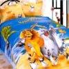 Детское постельное белье La Scala KI-05 Сатин 3D 160x205 Синий|Оранжевый