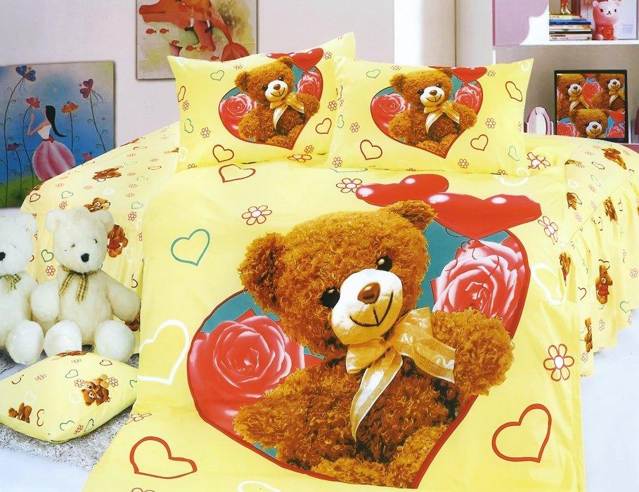Детское постельное белье KI-81 3D 160x205 Желтый