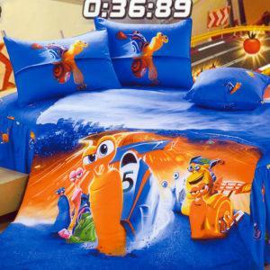 Детское постельное белье La Scala KI-85 Сатин 3D 160x205 Синий