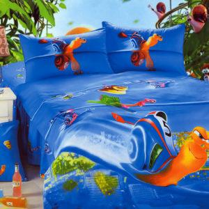 Детское постельное белье La Scala KI-86 Сатин 3D 160x205 Синий